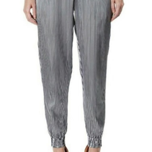 American Apparel metallic striped harem pant